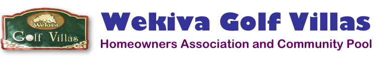 Wekiva Golf Villas Homeowners Association